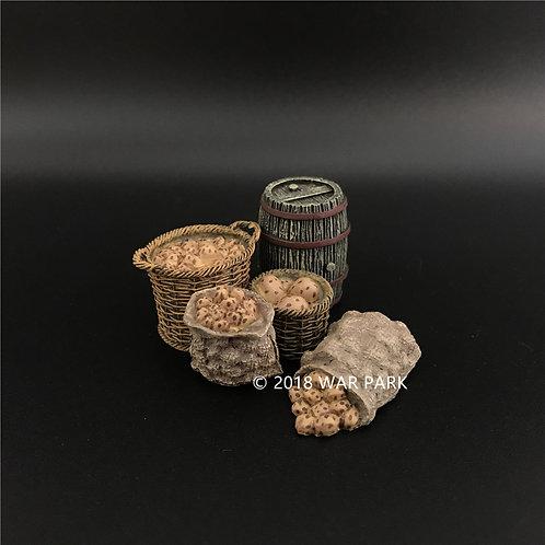 WS021 Potatoes & Wooden Barrel Set