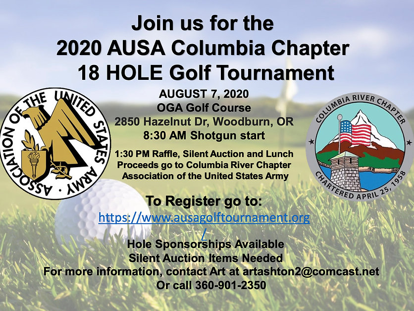 2020 AUSA FORE!OUR TROOPS GOLF TOURNAMEN