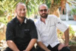 Gauthier etNikolaz, Chefs durestaurant La Plage U Santa Maria