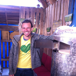 Happy chappy and his rocket stove