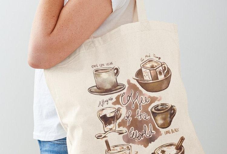TRAVELLERS COFFEE TOTE BAG