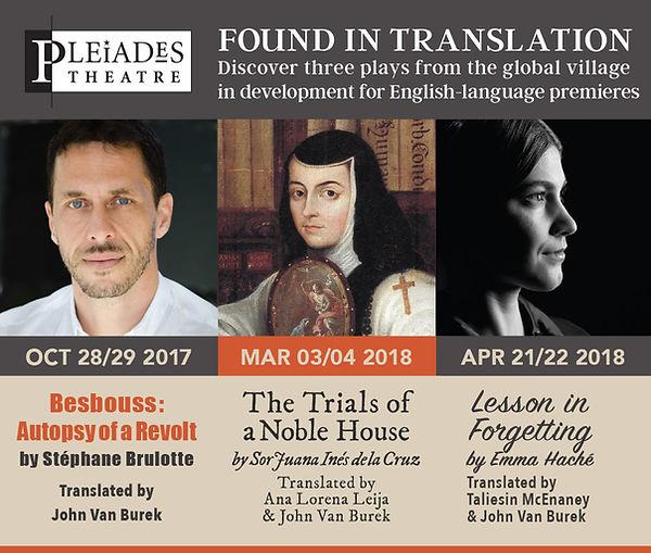 Found in Translation: Pleiades Theatre 2017/2018