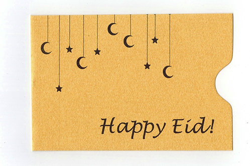 copy of Happy Eid Golden Gift Card Sleeve Holder (10 pack)