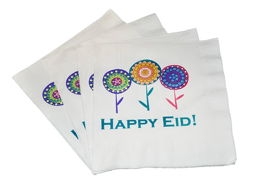 Happy Eid Flower Party Napkins (pack of 20)