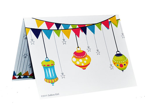 Eid Holiday Gift Card Holders Lanterns Design (10 pack)