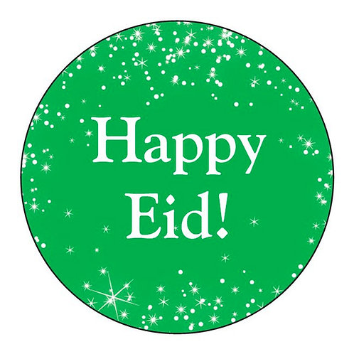Eid Holiday Stickers 12 Pack (Green Stars Design)