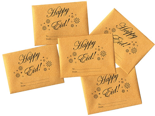 Eid Holiday Golden Mini Gift Envelopes for Gift Cards and Money (10 pack