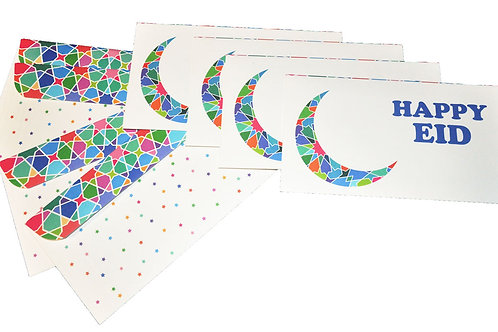 Eid Holiday Gift Money Envelopes Tile Work Motif (8 pack)
