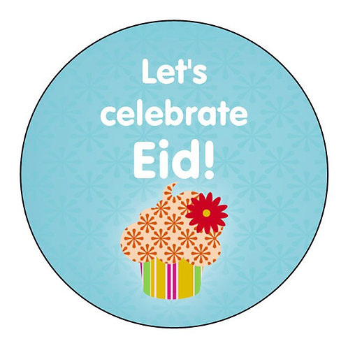 Eid Holiday Stickers 12 Pack (Cupcake Design)