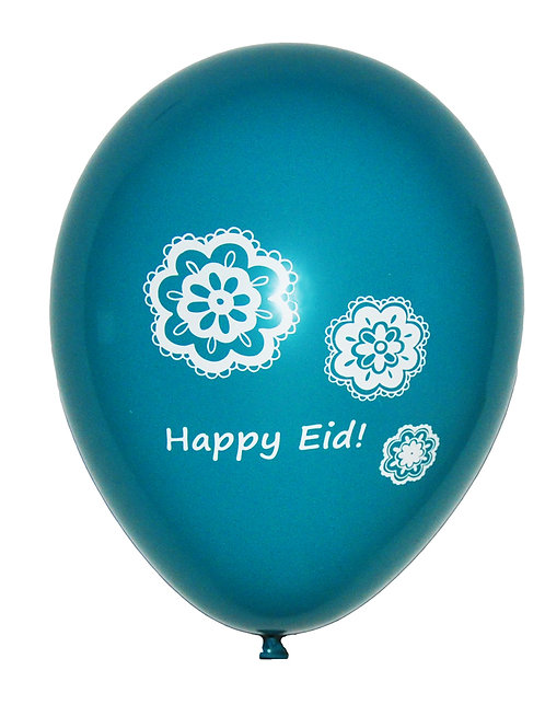 Eid Balloons - Happy Eid Flowers (10 Pack)