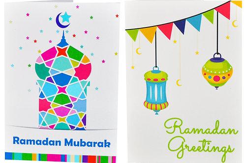Ramadan Mixed Designs Holiday Greeting Cards and Envelopes (10 Pack)