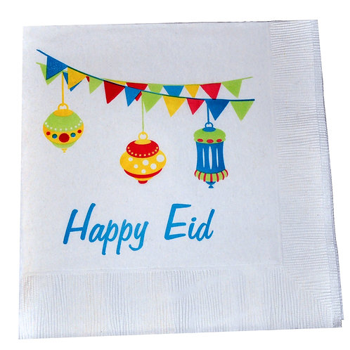 Happy Eid Lanterns Design Party Napkins (Pack of 20)