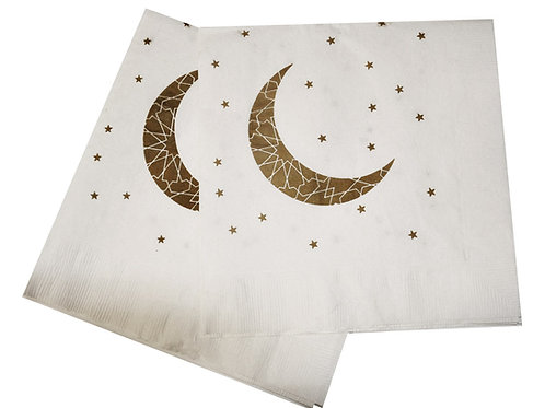 Ramadan and Eid Crescent Moon Party Napkins (Pack of 20)