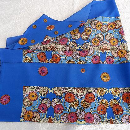 Blue vase silk scarf