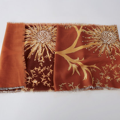 Isopogon Rust 2 Wool scarf