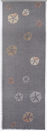 Grey Echinoids wool silk shawl