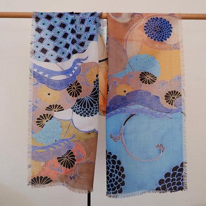 Sky Blue Diamond 1 wool scarf