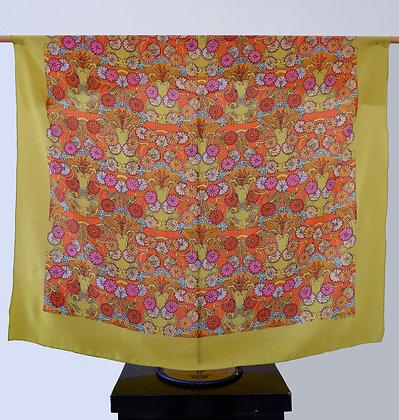 Lime Vase silk scarf