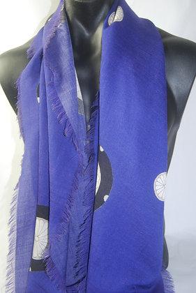 """""""Royal Blue Mon' Silk Wool scarf"""