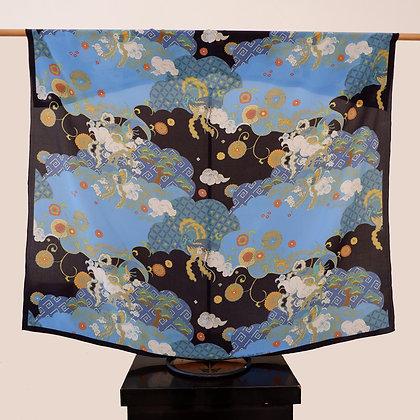 Black Pheonix silk scarf