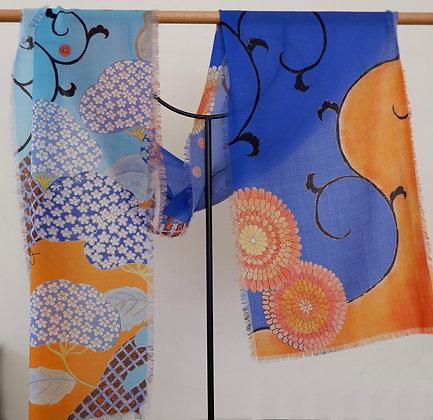 Hydrangea 1 Wool scarf