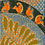 Thumbnail: Orange Beasties long silk scarf
