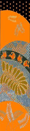 Orange Beasties long silk scarf
