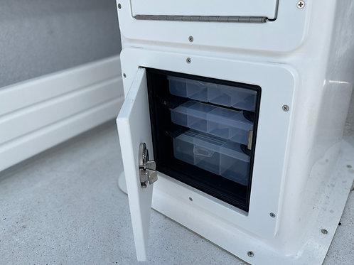 Custom inbuilt storage and tackle trays
