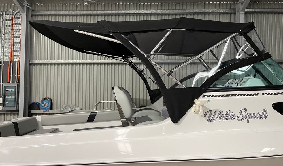 CANOPY WITH REAR BIMINI EXTENSION