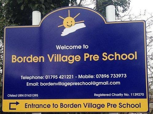 Dibond school sign 4x3 feet wall sign
