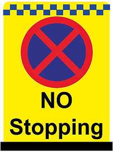 no stopping signs