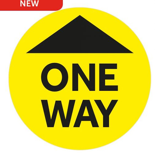 Covid floor stickers 400x400mm one way