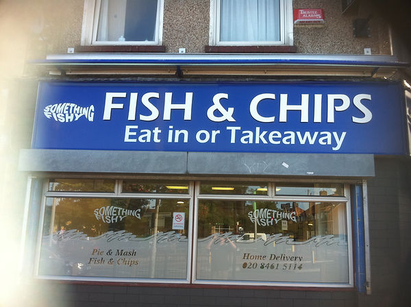 fish and chip signs
