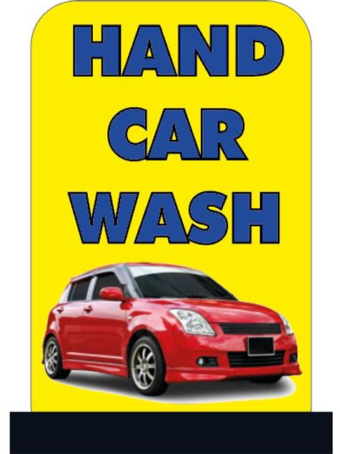 Hand car wash sign
