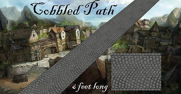 cobbled path strips