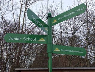 School tells visitors where to go!
