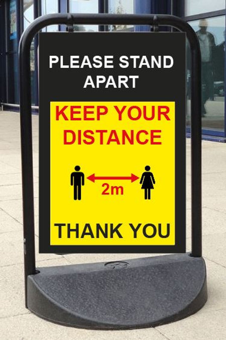 A Board Pavement Signs Any message