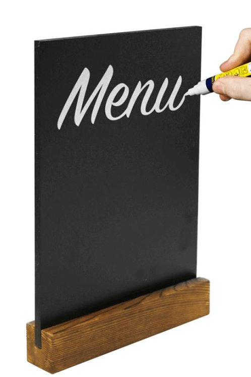 Countertop Chalkboard Menu A6