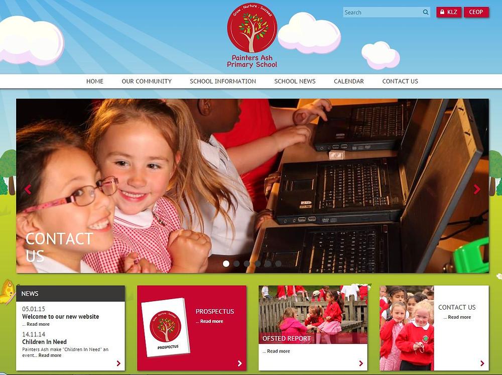 new school web site