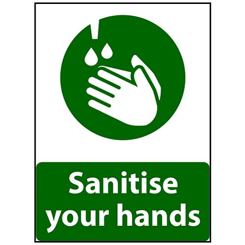 Sanitize Hands a3 sticker