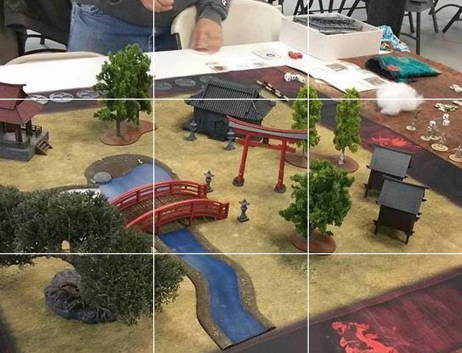 Samurai gaming mats