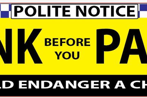 No Parking Banner 3000x800mm