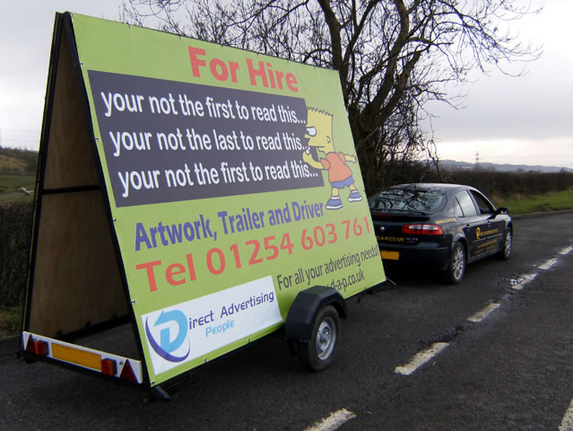 PVC Banners for ad trailers