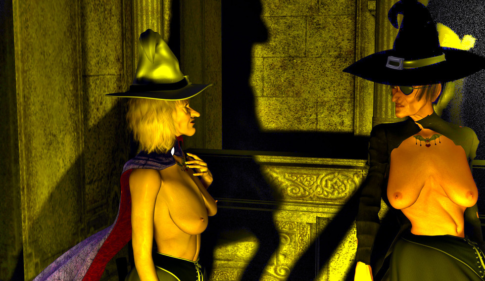 Cynthia and Solaire Old Witches