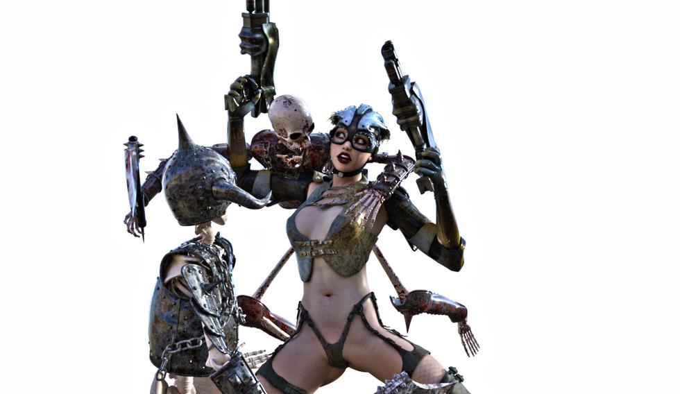 Lena vs Skeletons