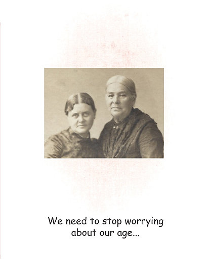We need to stop worrying about our age...