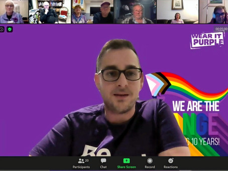 Celebrating Wear it Purple Day with Out for Australia & within our ACRC club!