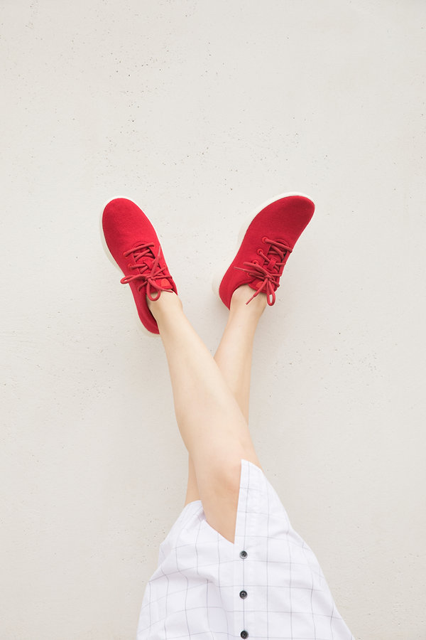 allbirds red shoes