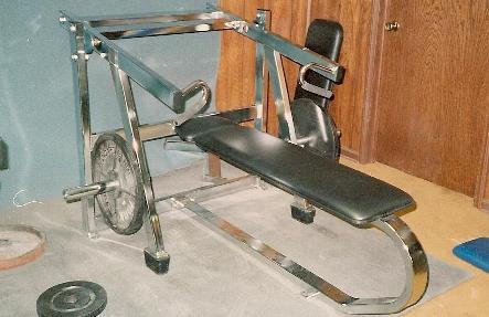 Leverage Bench Press in company gym