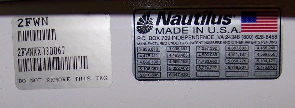 Later serial number stickers offering much of the same information, but now also the year that the unit was produced. 2003 in this case.